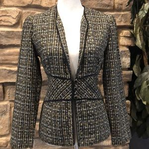 Jessica However tweed blazer three button size 6
